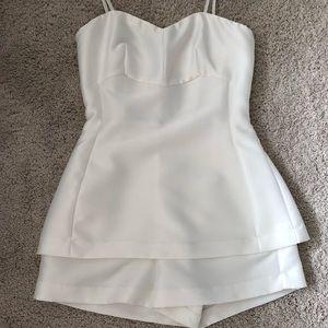Gorgeous white satin romper